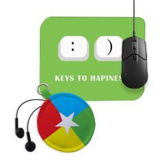 Mouse Pad and Earphone Pouch