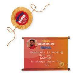 Personalised Rakhi And Scroll