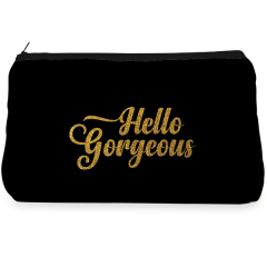Black & golden gorgeous Make up Pouch