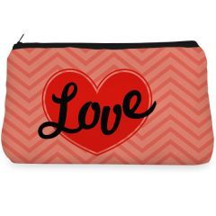 Red love heart Make up Pouch