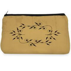 Brown floral Make up pouch