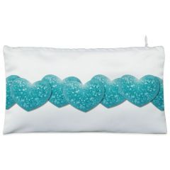White string  love Cosmetic Pouch