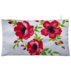 White red  floral Cosmetic Pouch