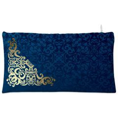 Blue golden vintage Cosmetic Pouch