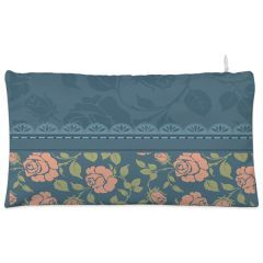 Blue floral lace Cosmetic Pouch