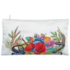 White floral Cosmetic Pouch
