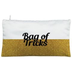 Golden glitter Bag of Tricks Cosmetic Pouch