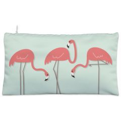 Green flamingo bird Cosmetic Pouch
