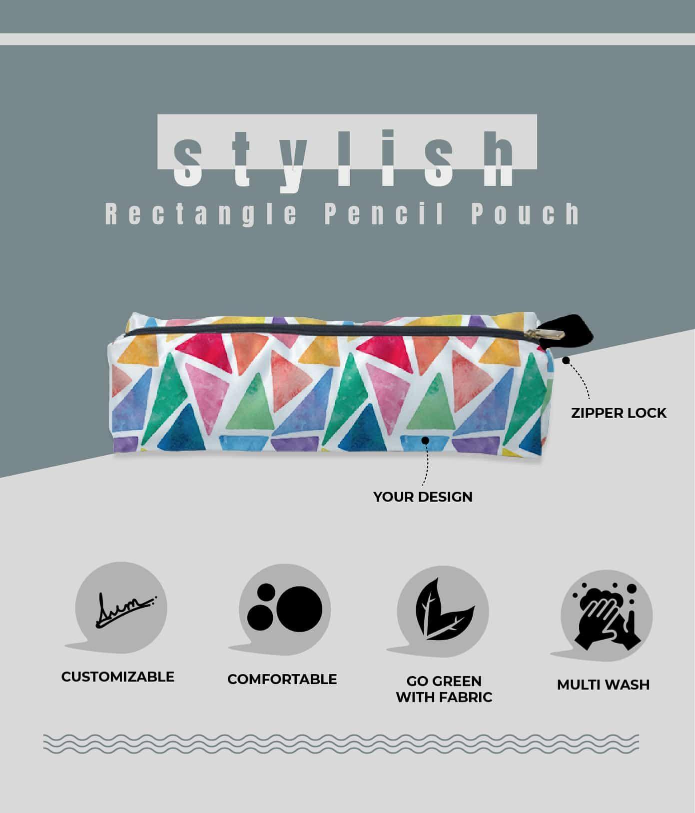 rectangle pencil pouch